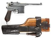 GERMAN MAUSER MODEL C96 7.63mm BROOMHANDLE PISTOL