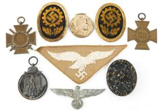 WWII GERMAN MEDALS BADGES & INSIGNIA LOT