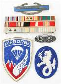 WWII - KOREA US ARMY AIRBORNE PATCH & INSIGNIA LOT