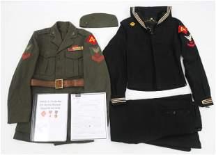 WWII USMC 4TH MARINE IWO JIMA VETERAN NAMED GROUP