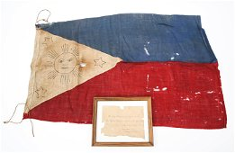 FIRST PATTERN PHILIPPINES FLAG SURRENDERED TO US