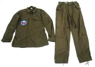 VIETNAM WAR US ARMY FLYER'S SUMMER SHIRT & TROUSER