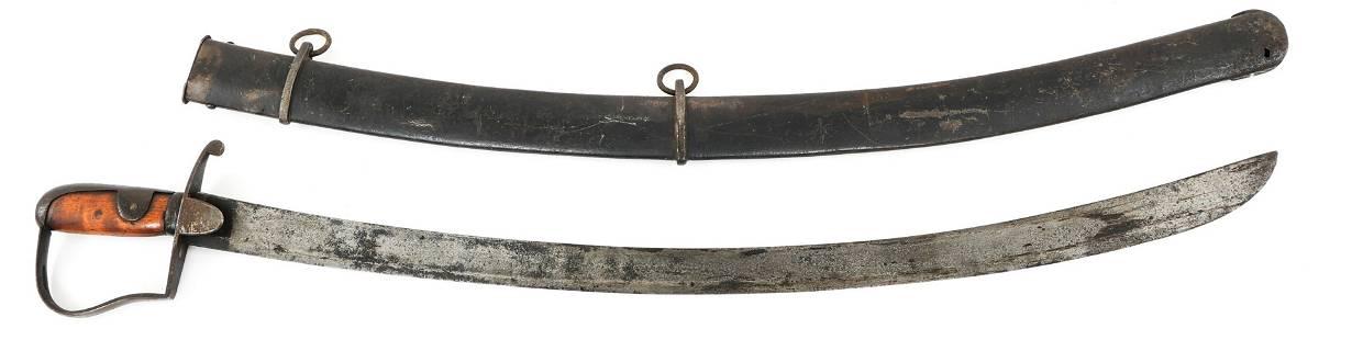 BRITISH M1796 LIGHT CAVALRY SWORD & SCABBARD