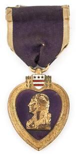 US ARMY 1932 BB&B NAMED PURPLE HEART MEDAL