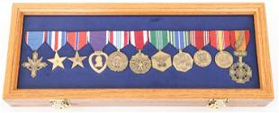 US ARMY AWARD MEDALS WITH PRESENTATION CASE