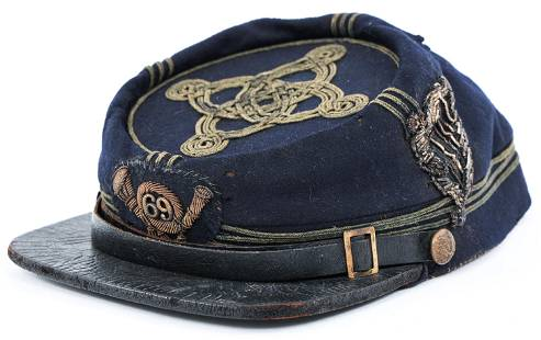 CIVIL WAR 69th NY VOLUNTEER IRISH OFFICER KEPI