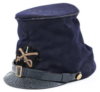 CIVIL WAR CAVALRY OFFICER McDOWELL FORAGE CAP KEPI