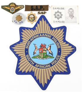 SOUTH AFRICAN POLICE BADGE INSIGNIA & ID LOT
