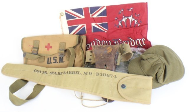 MILITARY CANVAS AND EQUIPMENT LOT