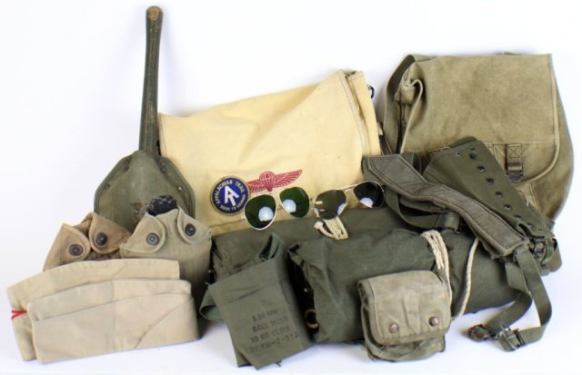 MILITARY SURVIVAL AND EQUIPMENT LOT