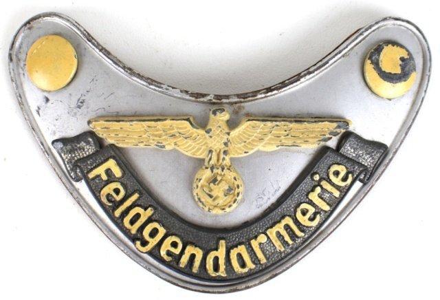 FELDGENDARMERIE GERMAN WWII MILITARY POLICE GORGET