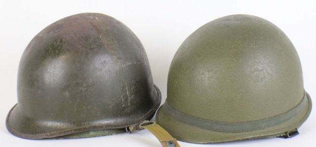 US WWII AND VIETNAM HELMETS AND LINERS