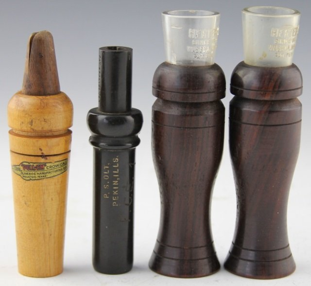 GROUP LOT OF FOUR DUCK CALLS