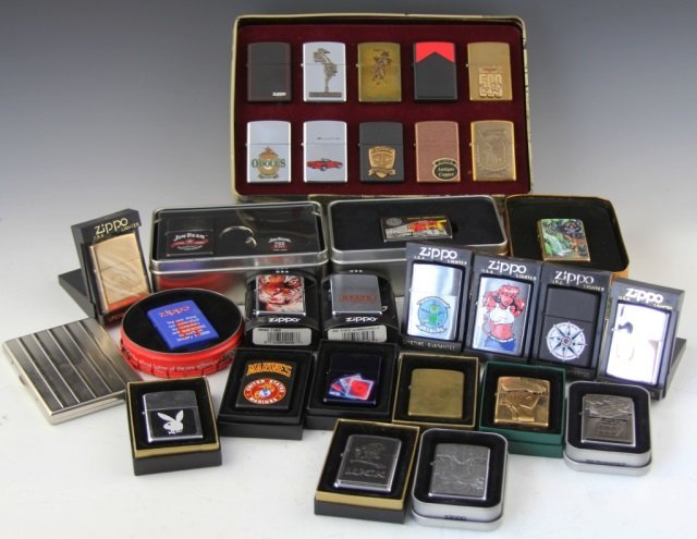 LARGE COLLECTIBLE ZIPPO LIGHTER LOT OF 29
