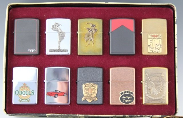 LARGE COLLECTIBLE ZIPPO LIGHTER LOT OF 29 - 2