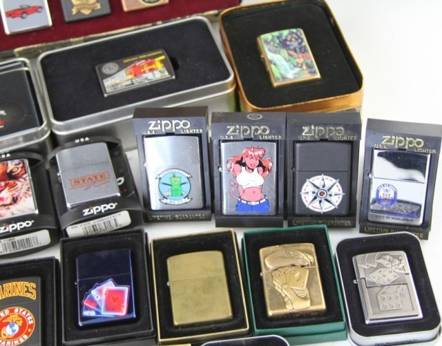 LARGE COLLECTIBLE ZIPPO LIGHTER LOT OF 29 - 4