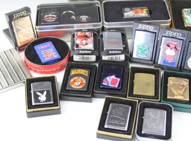 LARGE COLLECTIBLE ZIPPO LIGHTER LOT OF 29 - 5