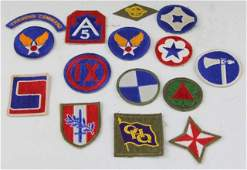 13 MIXED US MILITARY PATCH LOT WWII