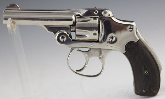 S & W SAFETY HAMMERLESS .32 CAL 2ND MODEL REVOLVER