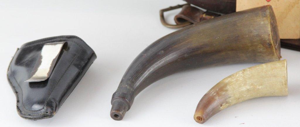 MIXED ACCESSORIES LOT GUN CASE POWDER HORNS - 2