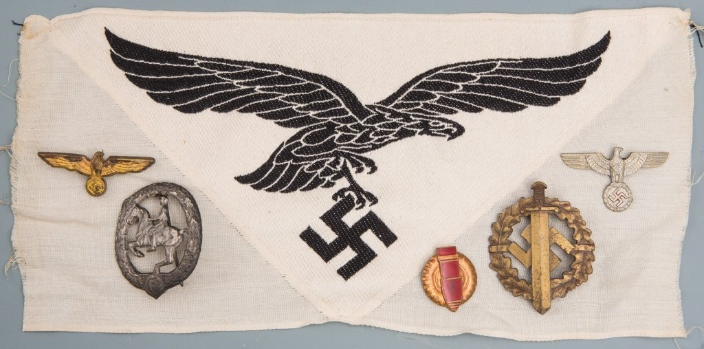 WWII GERMAN BADGE PIN PATCH LOT