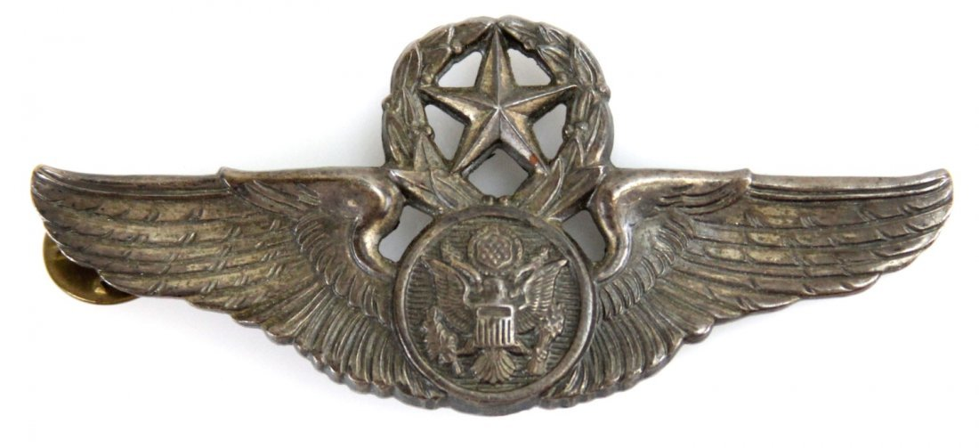 STERLING WWII ARMY AIR CORPS MASTER AVIATOR WINGS