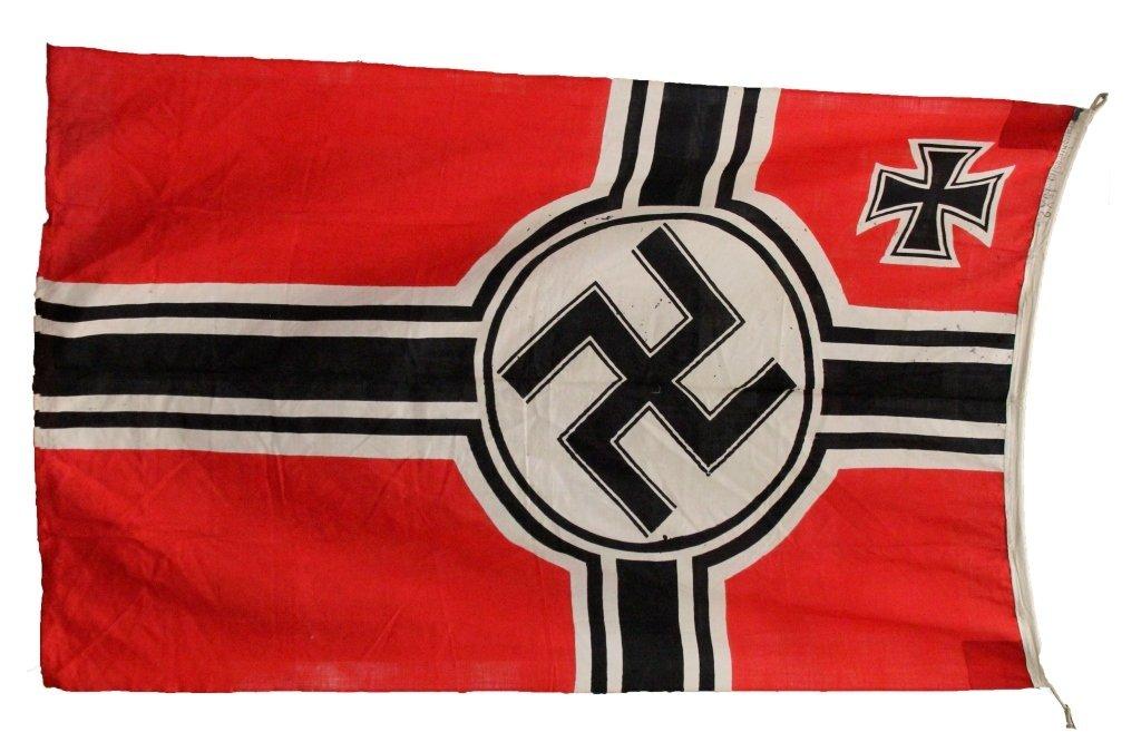 LARGE WWII GERMAN KRIEGSMARINE FLAG