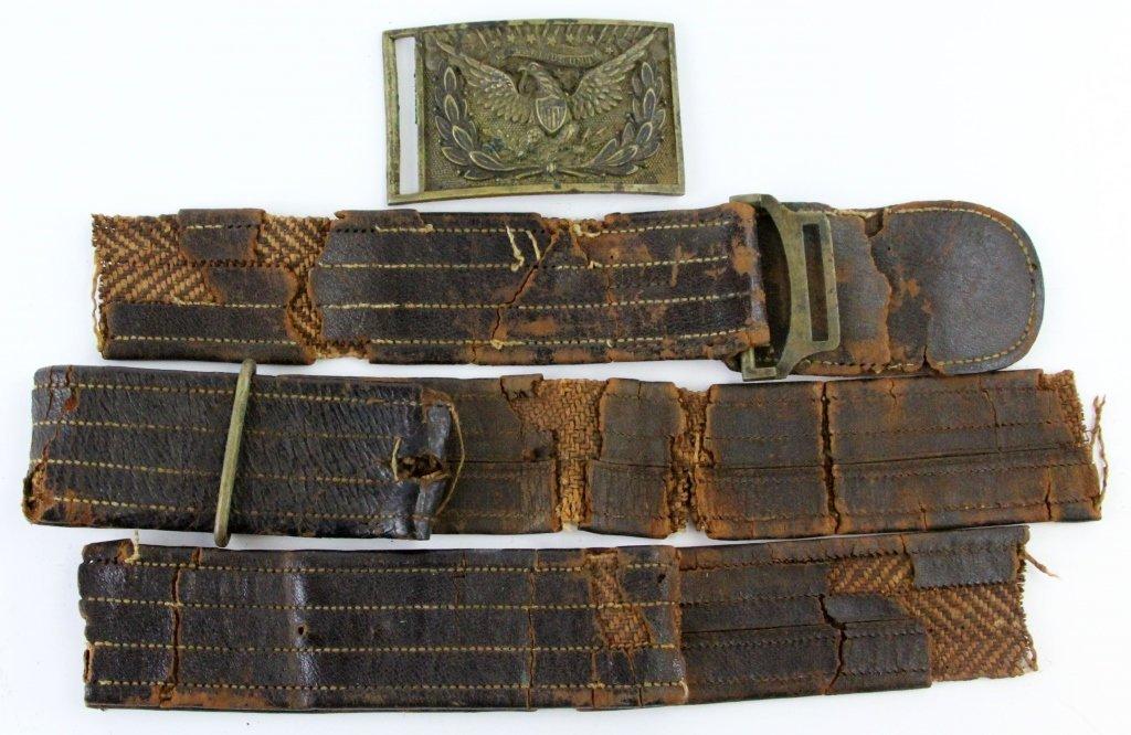MODEL 1851 OFFICER'S EAGLE SWORD BELT PLATE & BELT