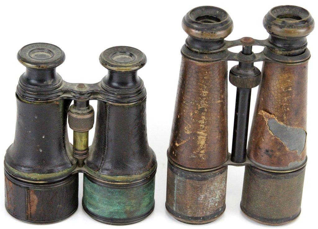 2 PAIRS OF CIVIL WAR FIELD GLASSES BINOCULARS