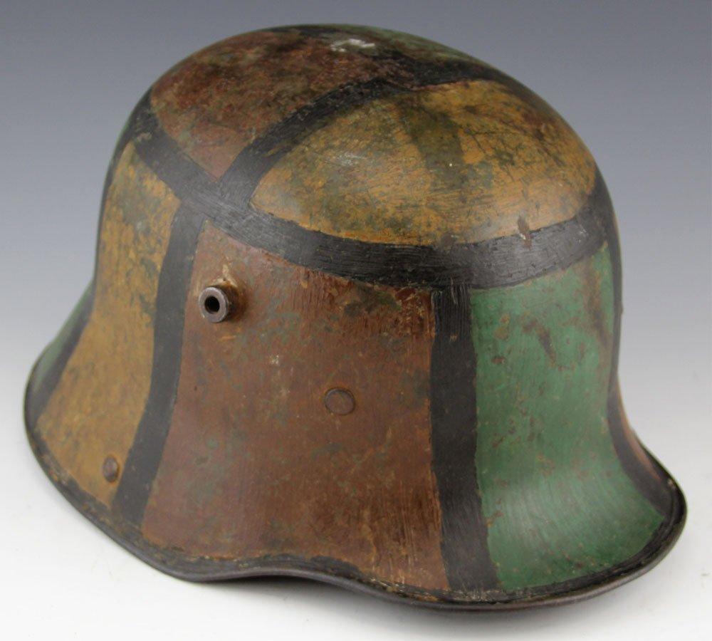 WWI GERMAN M1917 CAMOUFLAGE HELMET