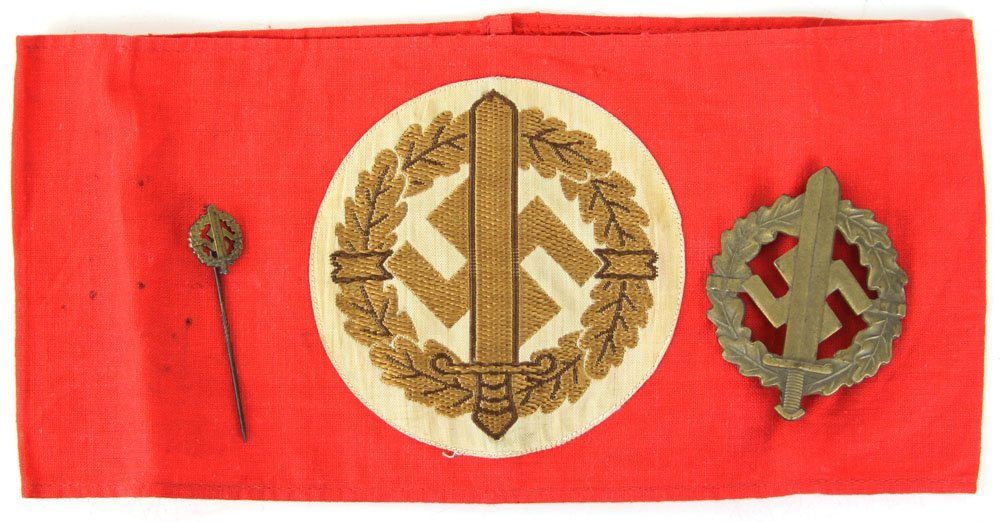 WWII GERMAN SA SPORTS LOT ARMBAND BADGE PIN