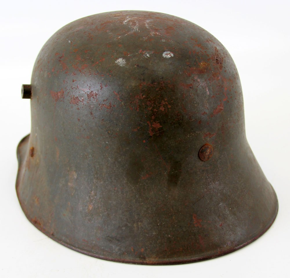 WWI AUSTRIAN M1916 HELMET WITH LINER - 2