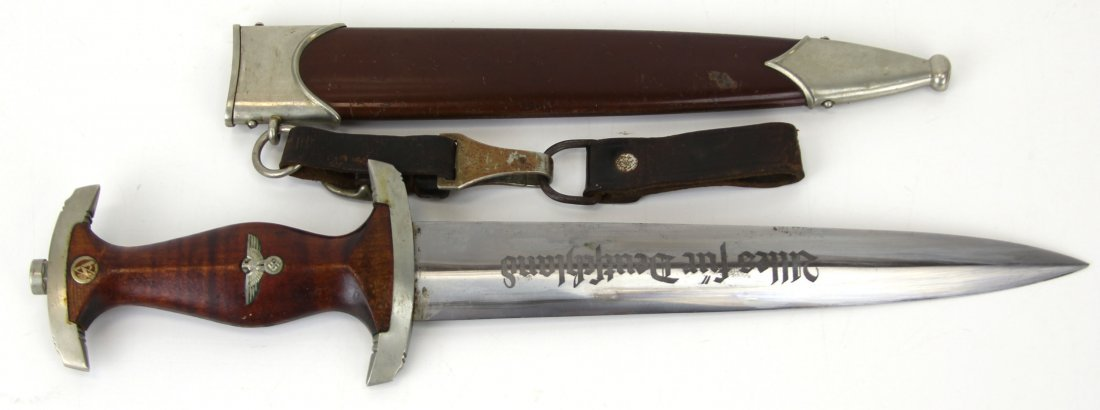 WWII GERMAN E.P.&S. SA DAGGER WITH HANGER