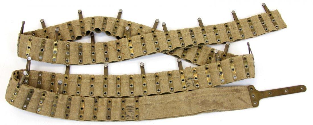 WWI US 250 ROUND CANVAS MACHINE GUN AMMO BELT