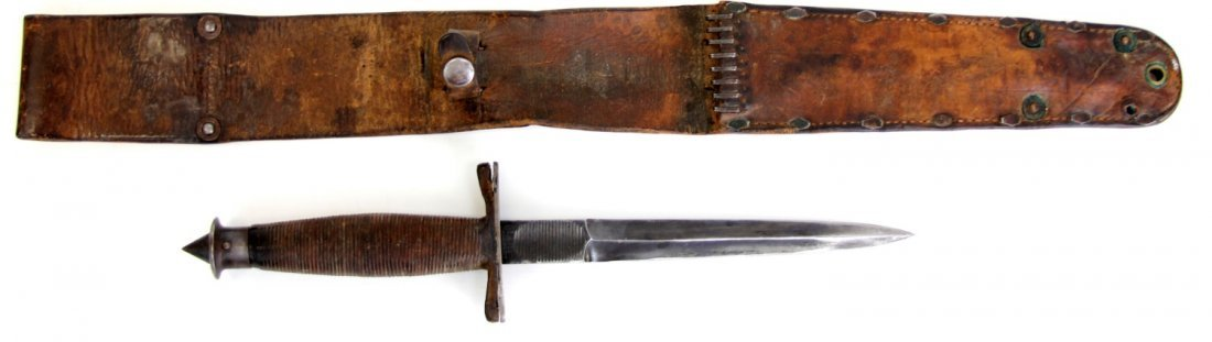 WWII CASE V-42 STILETTO SPECIAL FORCES FIGHTING KNIFE