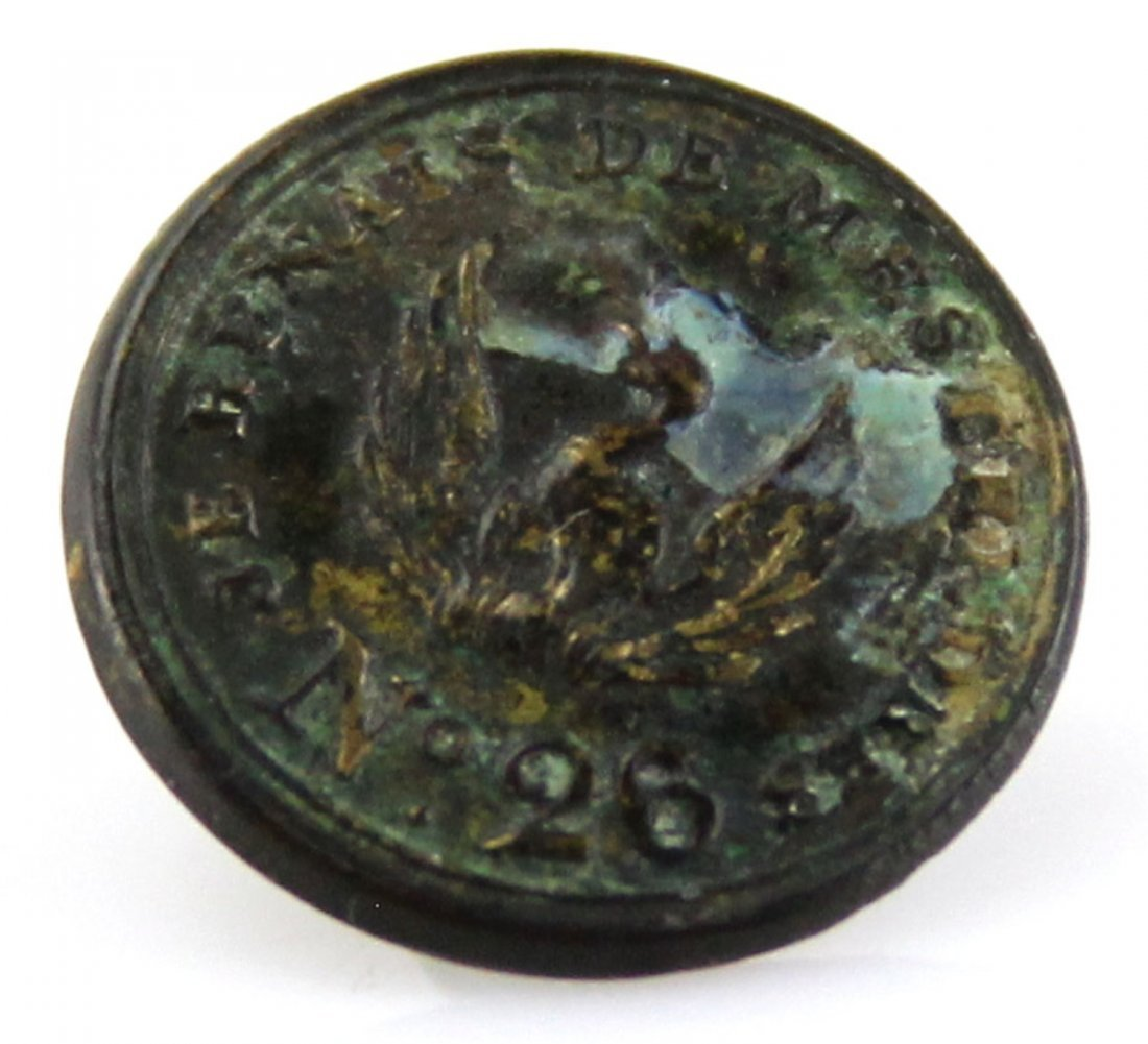 FRENCH PHOENIX INDIAN TRADE BUTTON