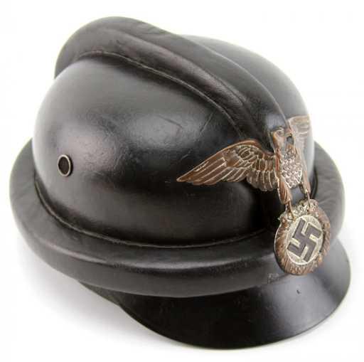 Wwii German Nskk Leather Motorcycle Helmet