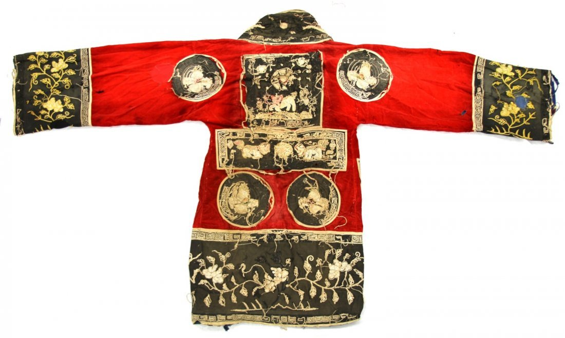 CHINESE BOXER REBELLION EMBROIDERED ROBE