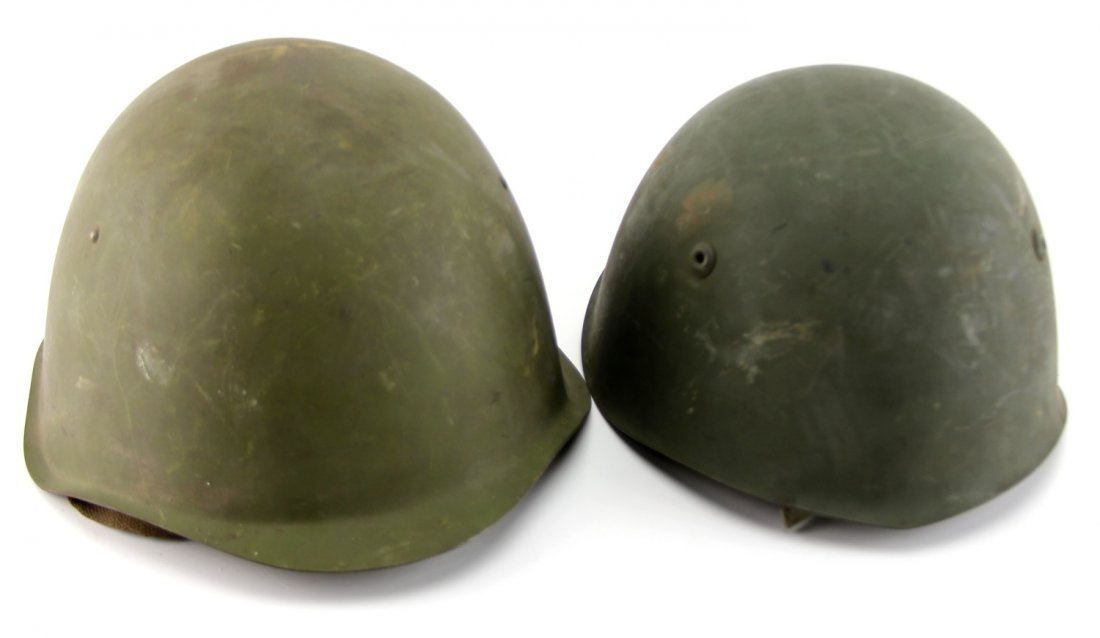 TWO EASTERN BLOC EUROPEAN HELMETS