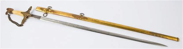 19th CENTURY AMERICAN MILITIA STAFF OFFICER SWORD