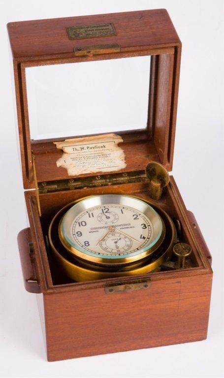 CHRONOMETERWERKE WEMPE GERMAN SHIP CLOCK