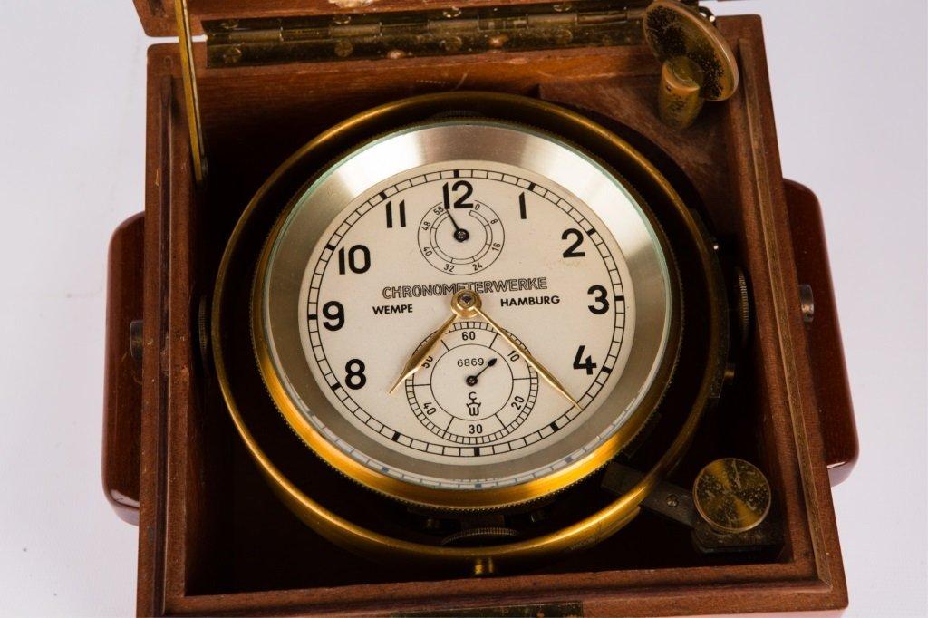 CHRONOMETERWERKE WEMPE GERMAN SHIP CLOCK - 2