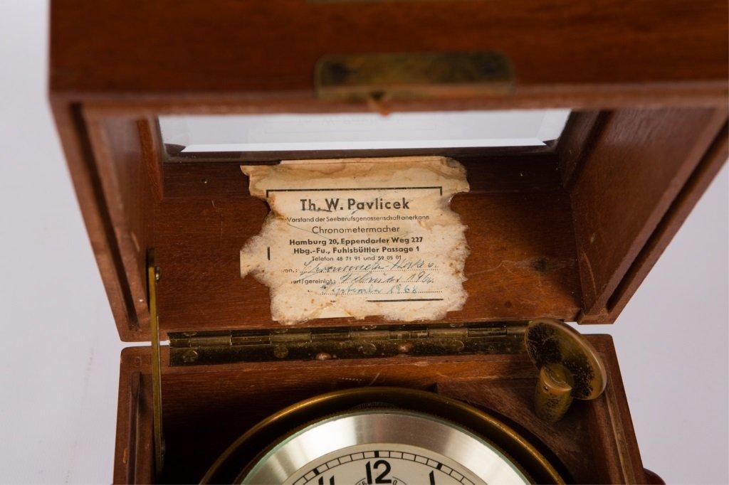 CHRONOMETERWERKE WEMPE GERMAN SHIP CLOCK - 4