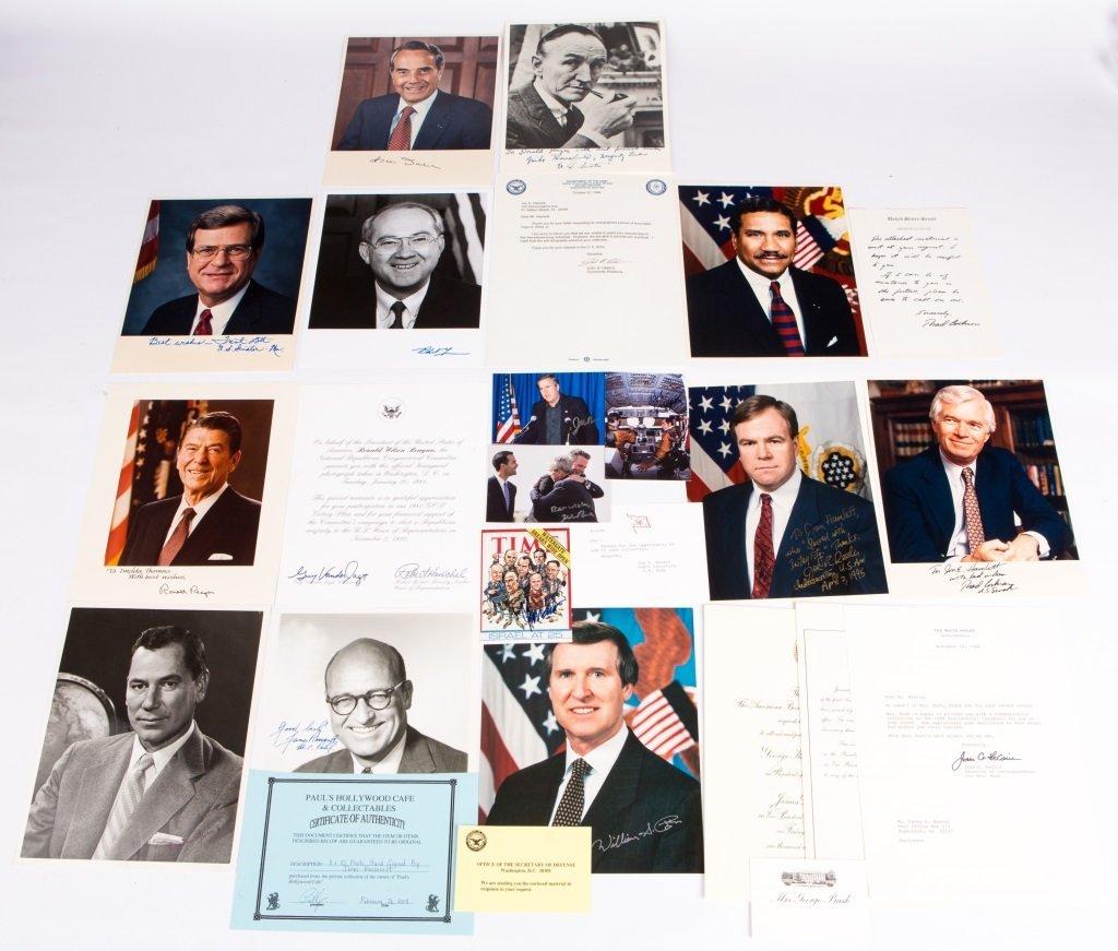 LOT OF US POLITICAL AUTOGRAPHED PHOTOS