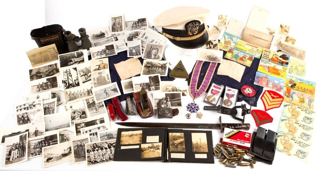 MIXED LOT OF MILITARY ITEMS BONANZA