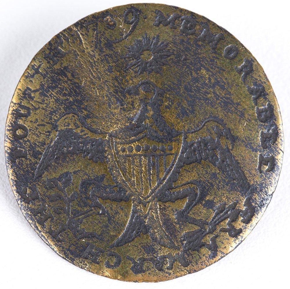 1789 GEORGE WASHINGTON INAUGURAL BUTTON