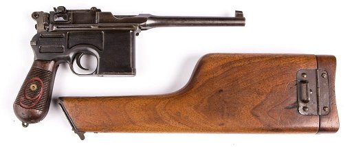 MAUSER C96 BROOMHANDLE RED NINE WITH STOCK