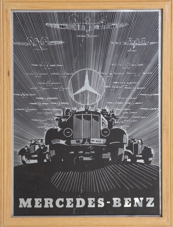Wwii german mercedes benz poster for Mercedes benz poster