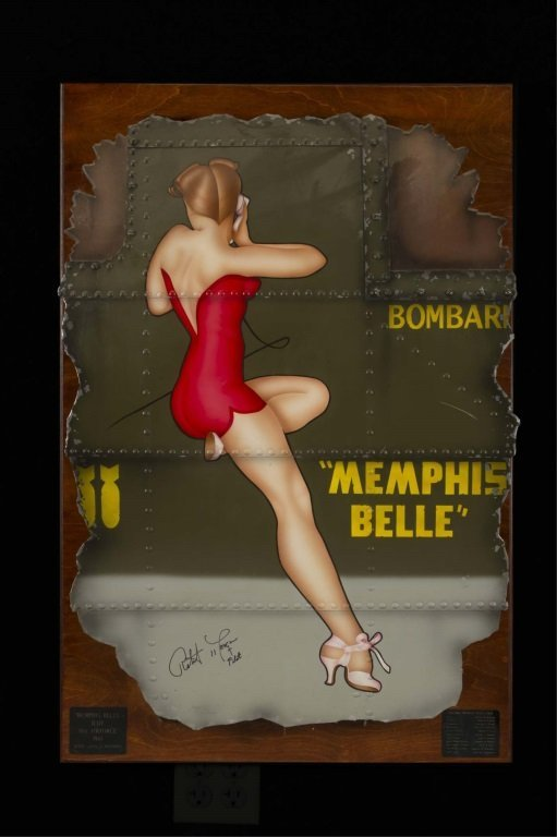 MEMPHIS BELLE NOSE ART PAINTING SIGNED BY MORGAN