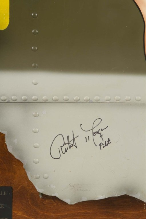 MEMPHIS BELLE NOSE ART PAINTING SIGNED BY MORGAN - 2